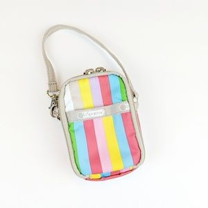 Lesportsac Striped Mini Bag/ Wallet/ Cosmetic case